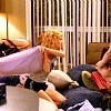 One Tree Hill photo probably with a family room, a living room, and a den entitled Pillow fight - 2x08