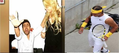 Piqué Shakira Nadal white yellow black