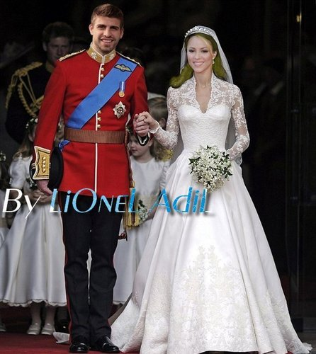 Piqué and Шакира Royal Wedding