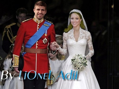 Piqué and 夏奇拉 Royal Wedding