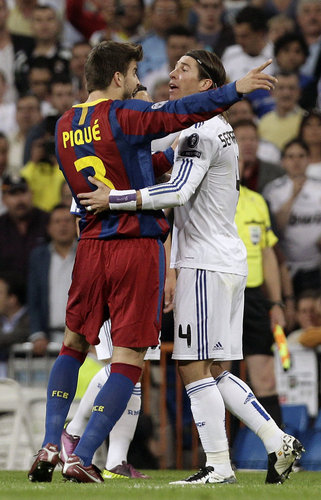 Piqué vs Ramos : when took place a skirmish или quarrel, neither one of them there could not miss.