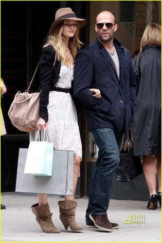 Rosie Huntington-Whiteley: Madison Avenue with Jason Statham!
