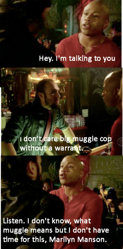 Sam doesn't know what Muggle means.
