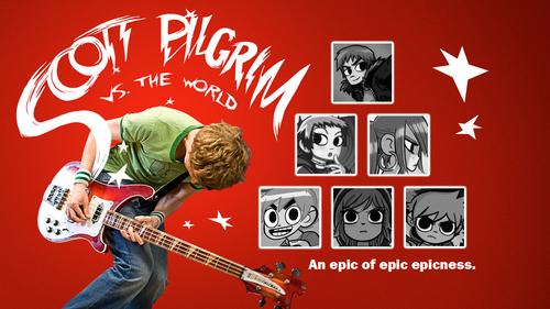 Scott Pilgrim Movie/Comic karatasi la kupamba ukuta