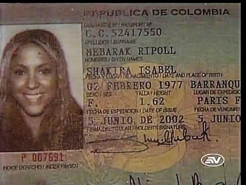 शकीरा Passaporte