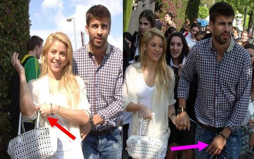 Shakira and Piqué :they vain covering body !