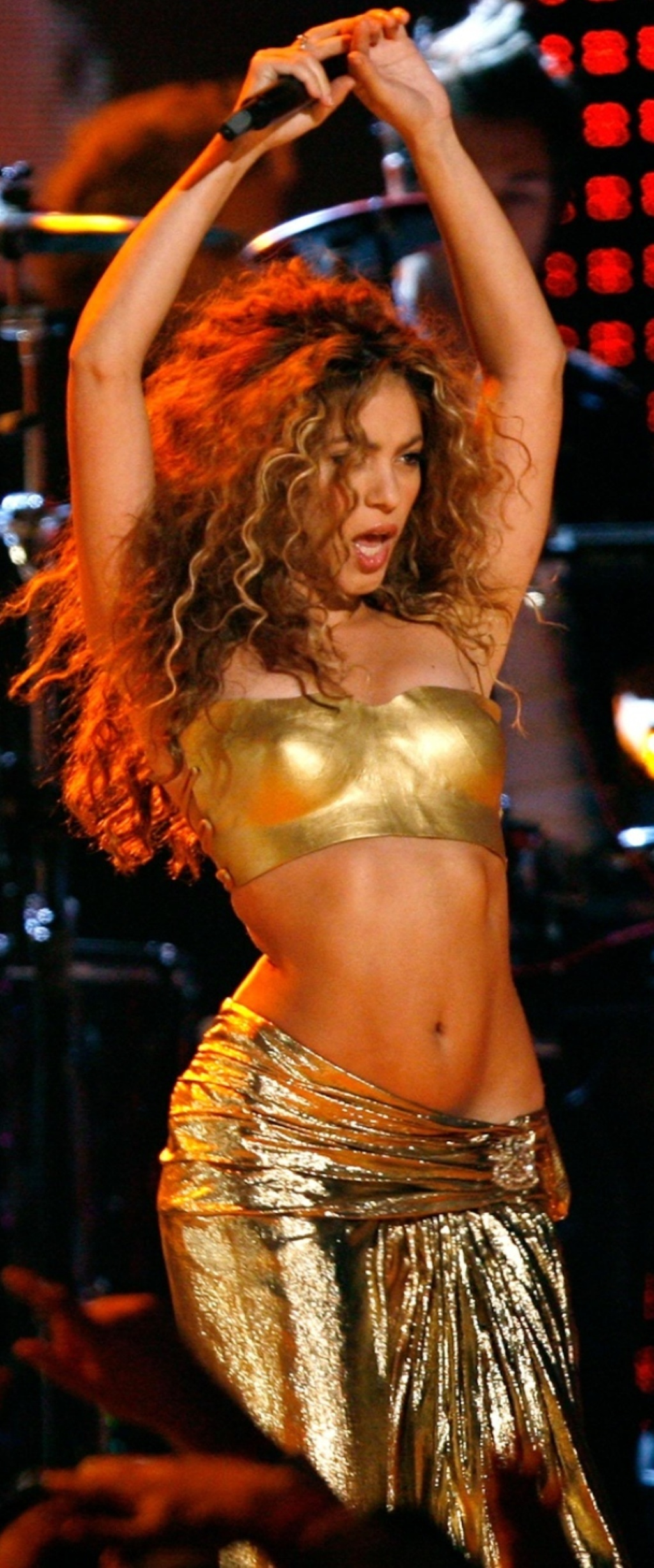 Shakira gold nipple big picture