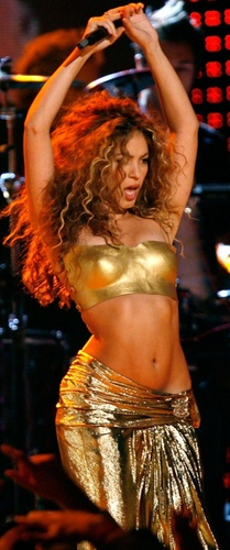 Shakira gold nipple big picture - shakira Photo