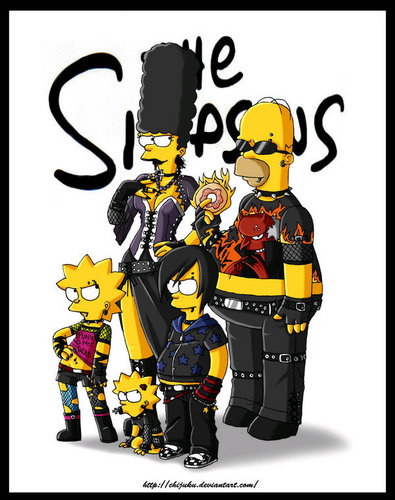 The Simpsons gothic,queen_gina