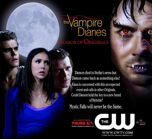Vampire Diaries SN 3 Poster