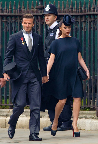 Victoria & David Beckham Royal Wedding  - wags Photo