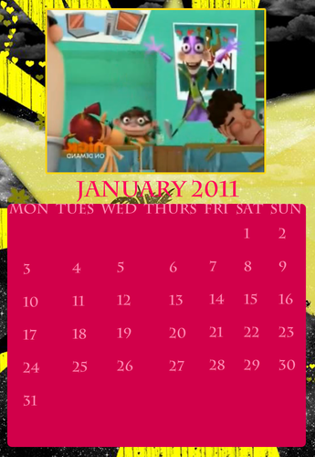 Fanboy ''N'' Chum Chum wallpaper probably containing a sign titled fbacc calendar jan 2011