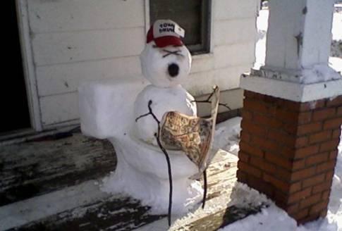 haha snow man