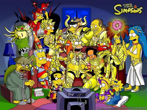 Les Simpsons fond d'écran with animé titled halloween,queen_gina