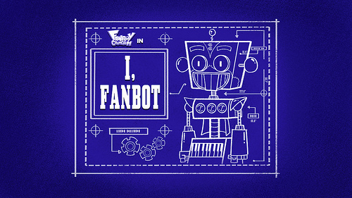 Fanboy ''N'' Chum Chum wallpaper with a sign entitled i fanbot