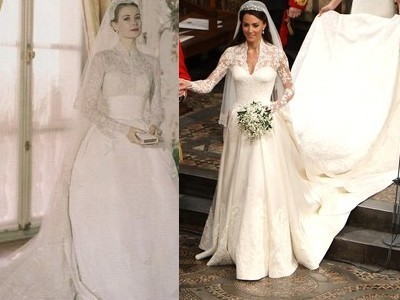kate's wedding dress_like grace kelly's