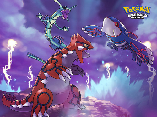 Legendary Pokemon wallpaper possibly containing anime titled pokemon emerald legendaries