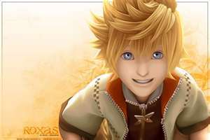 Kingdom Hearts 2 achtergrond possibly containing a portrait entitled roxas