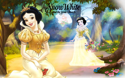 Snow White kertas dinding titled snow white forest