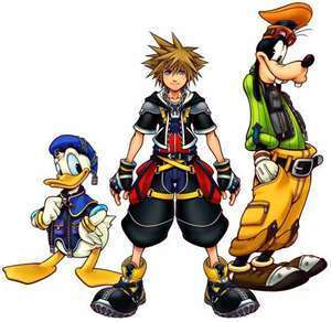 Kingdom Hearts 2 wallpaper possibly containing animê entitled sora, donald,and goofy