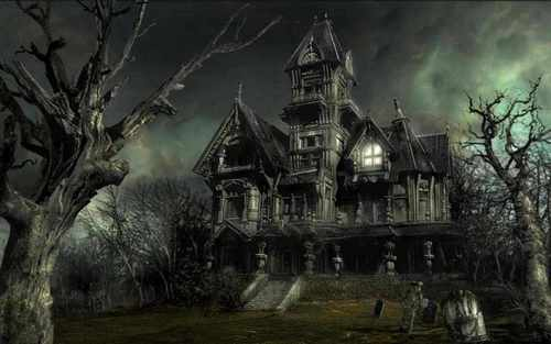 spooky house,queen_gina