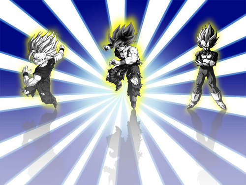 Dragon Ball Z wallpaper possibly with anime called ssj Goku, Vegeta and Gohan