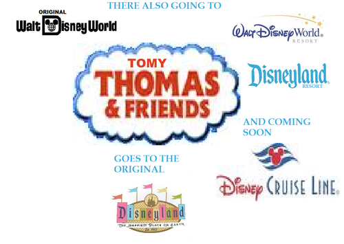 Tomy Thomas And Friends wallpaper titled tomy thomas gos to the disney parks
