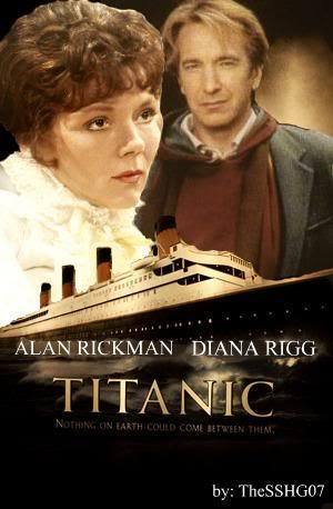 Alan Rickman Diana Rigg - titanic banner