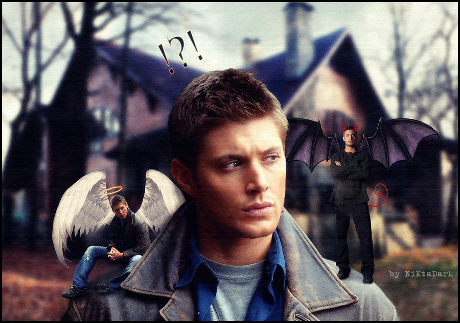 245 best images about a SPN Fan Art on Pinterest | Destiel ... |Supernatural Dean Angel