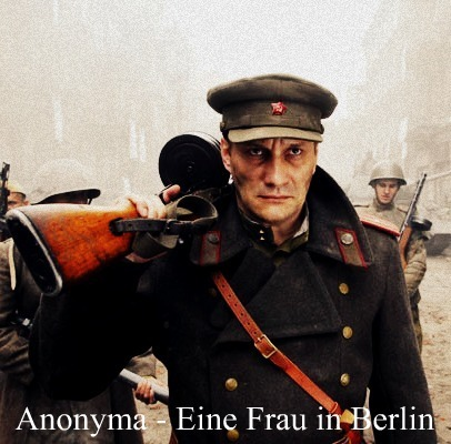 pelikula wolpeyper with a green beret, uniporme, and a manganganyon entitled Anonyma - Eine Frau in Berlin