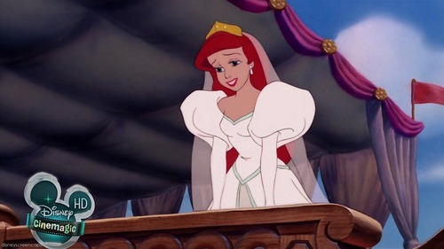 Disney Females wolpeyper titled Ariel in her Wedding