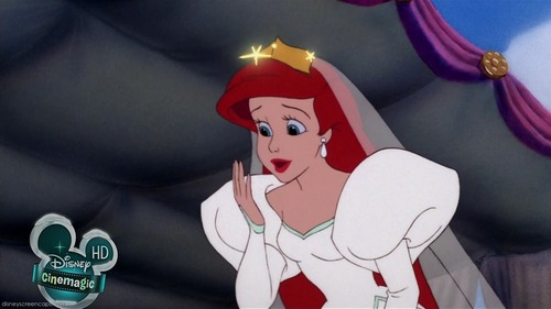 Disney Females wolpeyper called Ariel in her Wedding