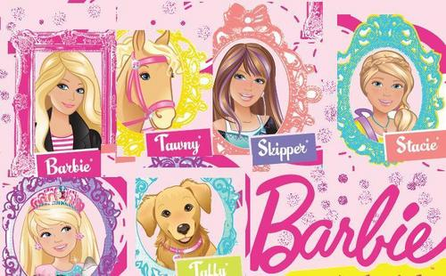 Barbie , her sisters ,pets and دوستوں
