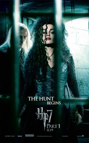 বেলাট্রিক্স লেস্ট্র্যাঞ্জ দেওয়ালপত্র possibly with a chainlink fence and a সঙ্গীতানুষ্ঠান titled Bellatrix Lestrange poster