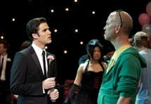 Blaine and Ryan Murphy Prom Episode Behind the scenes