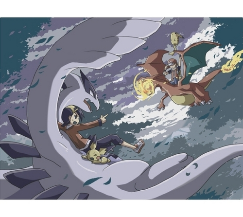 Red & Charizard vs Jimmy & Lugia