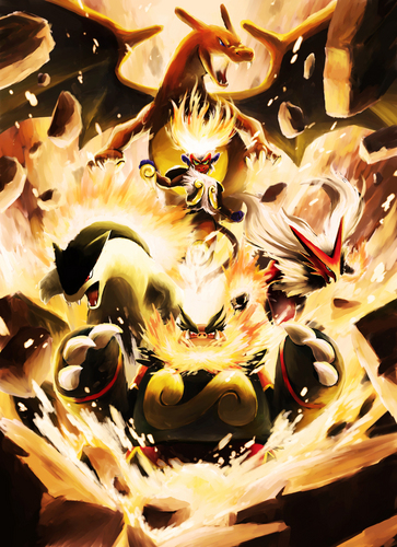 Charizard and the fuego Starters