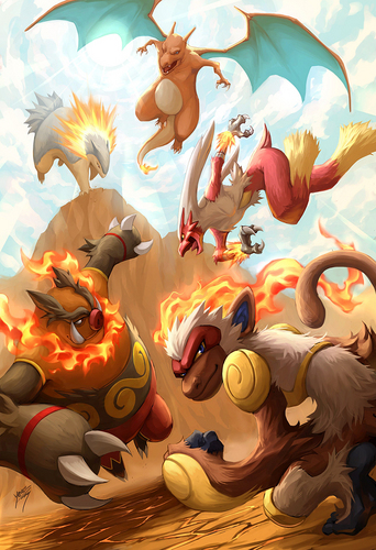 Charizard and the fuoco Starters