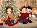 Christmas2010 - dean-castiel-and-sam fan art