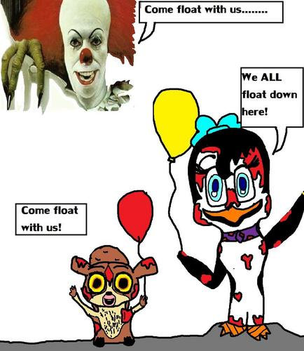 Fans of PoM Hintergrund with Anime titled Come float with us...................................
