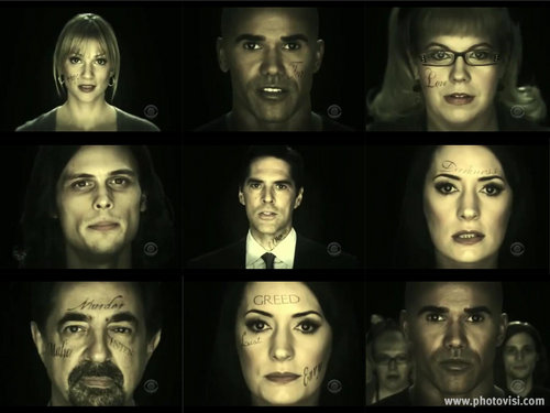 Criminal Minds wallpaper probably with a portrait called Criminal Minds Super Bowl Commercial