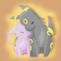 Evolutionshipping - umbreon-and-espeon fan art