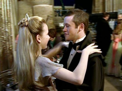 Gabrielle Delacour with Seamus Finnigan at Yule Ball