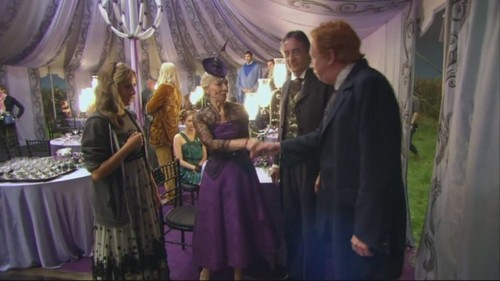 Gabrielle Delacour with mother, father and Arthur Weasley