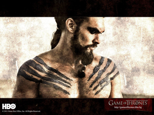 Game of Thrones wallpaper containing anime titled Khal Drogo