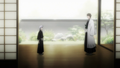 Gin and Aizen - bleach-anime screencap