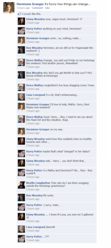 Harry Potter vs Twilight fond d'écran called HP Facebook convos