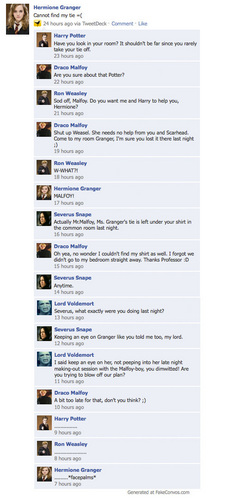 Harry Potter vs Chạng vạng hình nền entitled HP Facebook convos