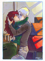 HP_kissing goodbye - rose-and-scorpius fan art