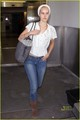 Isabel Lucas Lands at LAX